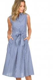Set | Dress with stripes Isabella | blue   | Picture 4