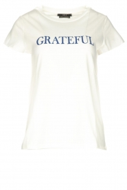 Set | T-shirt with text Marloes | white  | Picture 1