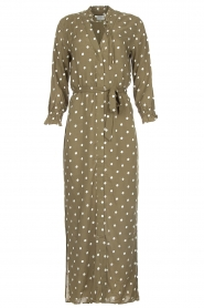 Dante 6 | Maxi-dress with dots Maeve | green  | Picture 1
