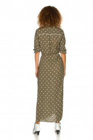 Dante 6 | Maxi-dress with dots Maeve | green  | Picture 5