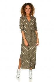 Dante 6 | Maxi-dress with dots Maeve | green  | Picture 2