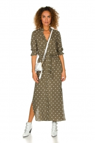 Dante 6 | Maxi-dress with dots Maeve | green  | Picture 3