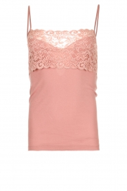 Hanro |  Cami with lace Moments | pink  | Picture 1