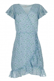 Freebird |  Floral wrap dress Rosy | blue  | Picture 1