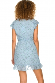 Freebird |  Floral wrap dress Rosy | blue  | Picture 6