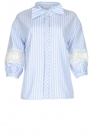 Silvian Heach |  Striped blouse Barmaso | blue  | Picture 1
