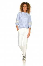 Silvian Heach |  Striped blouse Barmaso | blue  | Picture 3