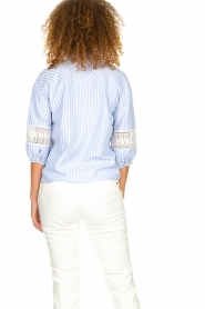 Silvian Heach |  Striped blouse Barmaso | blue  | Picture 6