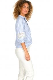 Silvian Heach |  Striped blouse Barmaso | blue  | Picture 5