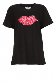 Silvian Heach |  T-shirt with sequin application Ratchaburi | black  | Picture 1