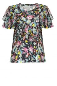 Silvian Heach |  Floral top Tinguipaya | black  | Picture 1