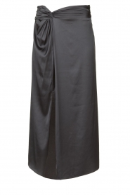 Patrizia Pepe |  Maxi skirt with split Shine | grey black  | Picture 1