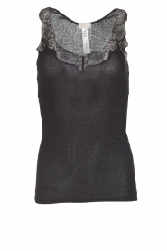 Hanro |  Sleeveless top Lace Delight | zwart  | Picture 1