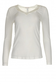 Hanro |  Modal longsleeve top Annik | white  | Picture 1