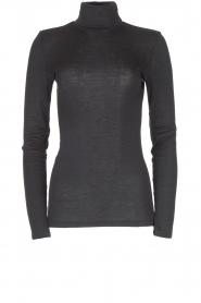 Hanro |  Merino woolen turtleneck top Monice | black  | Picture 1