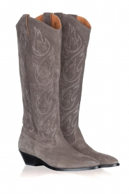 Catarina Martins |  Suede western boots Aba | grey  | Picture 3