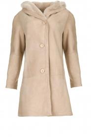 STUDIO AR BY ARMA |  Lammy coat Babina | beige  | Picture 1
