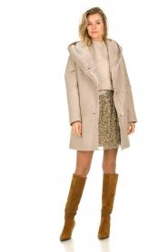 STUDIO AR BY ARMA |  Lammy coat Babina | beige  | Picture 3
