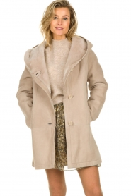 STUDIO AR BY ARMA |  Lammy coat Babina | beige  | Picture 4