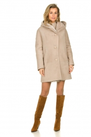 STUDIO AR BY ARMA |  Lammy coat Babina | beige  | Picture 8
