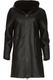 STUDIO AR BY ARMA |  Reversible lammy coat Wasson | black  | Picture 1