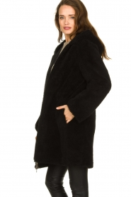 STUDIO AR BY ARMA |  Reversible lammy coat Wasson | black  | Picture 7
