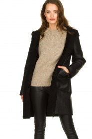 STUDIO AR BY ARMA |  Reversible lammy coat Wasson | black  | Picture 2