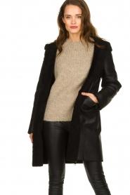 STUDIO AR BY ARMA    Reversible lammy coat Wasson   black    Picture 2