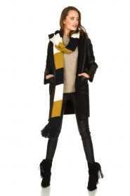 STUDIO AR BY ARMA |  Reversible lammy coat Wasson | black  | Picture 3