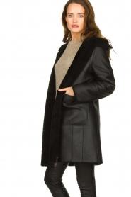 STUDIO AR BY ARMA    Reversible lammy coat Wasson   black    Picture 4