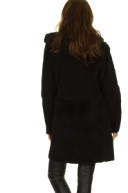 STUDIO AR BY ARMA |  Reversible lammy coat Wasson | black  | Picture 8