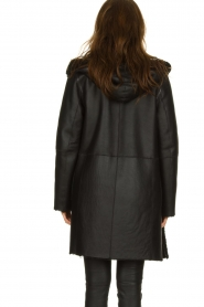 STUDIO AR BY ARMA |  Reversible lammy coat Wasson | black  | Picture 5