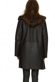 STUDIO AR BY ARMA    Reversible lammy coat Wasson   black    Picture 5
