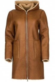 STUDIO AR BY ARMA |  Reversible lammy coat Wasson | brown  | Picture 1