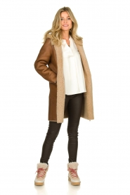 STUDIO AR BY ARMA |  Reversible lammy coat Wasson | brown  | Picture 3