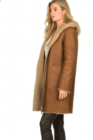 STUDIO AR BY ARMA |  Reversible lammy coat Wasson | brown  | Picture 5