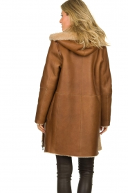 STUDIO AR BY ARMA |  Reversible lammy coat Wasson | brown  | Picture 6