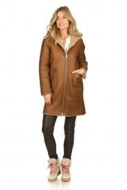 STUDIO AR BY ARMA |  Reversible lammy coat Wasson | brown  | Picture 7