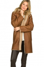 STUDIO AR BY ARMA |  Reversible lammy coat Wasson | brown  | Picture 4