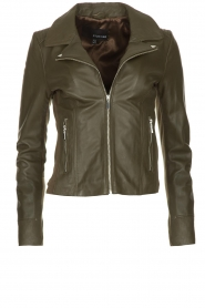 STUDIO AR BY ARMA |  Leather jacket Kendall | dark green  | Picture 1