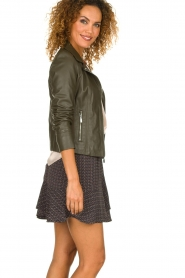 STUDIO AR BY ARMA |  Leather jacket Kendall | dark green  | Picture 4