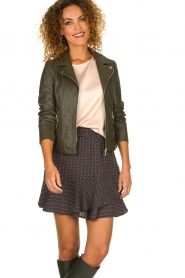 STUDIO AR BY ARMA |  Leather jacket Kendall | dark green  | Picture 2