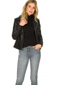 STUDIO AR BY ARMA | Leather jacket Kendall | black  | Picture 2