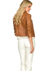STUDIO AR BY ARMA | Leather biker jacket Lovato | camel  | Picture 5