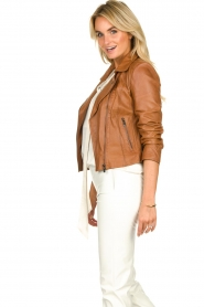 STUDIO AR BY ARMA | Leather biker jacket Lovato | camel  | Picture 4