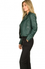 STUDIO AR BY ARMA | Leather biker jacket Lovato | green  | Picture 4