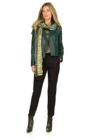 STUDIO AR BY ARMA | Leather biker jacket Lovato | green  | Picture 3