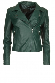 STUDIO AR BY ARMA | Leather biker jacket Lovato | green  | Picture 1