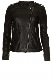 STUDIO AR BY ARMA |  Leather biker jacket Bente | black  | Picture 1