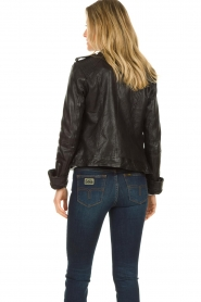 STUDIO AR BY ARMA |  Leather biker jacket Bente | black  | Picture 6